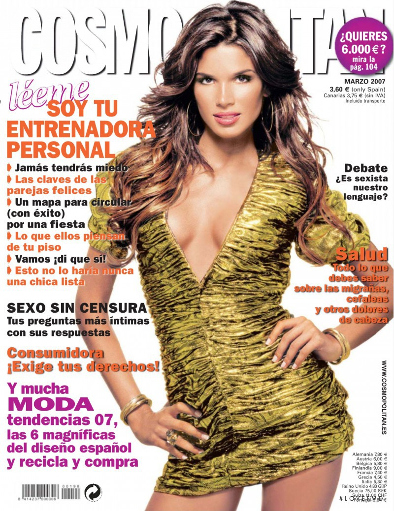 Raica Oliveira featured on the Cosmopolitan Spain cover from March 2007