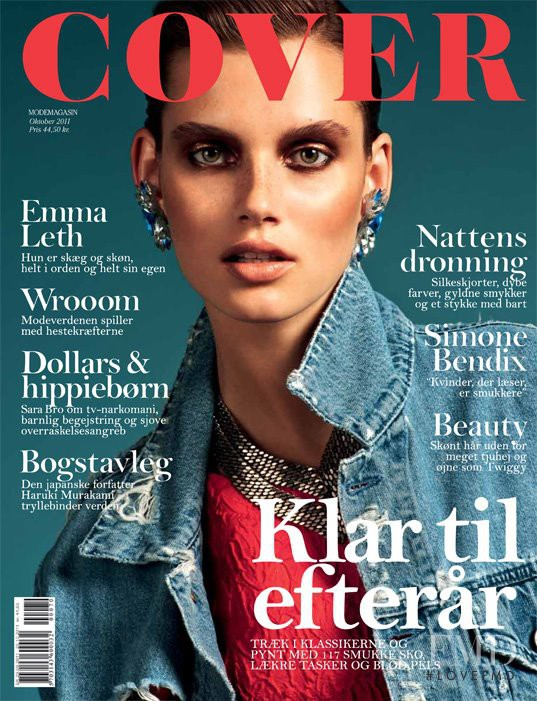 Giedre Dukauskaite featured on the Cover cover from October 2011