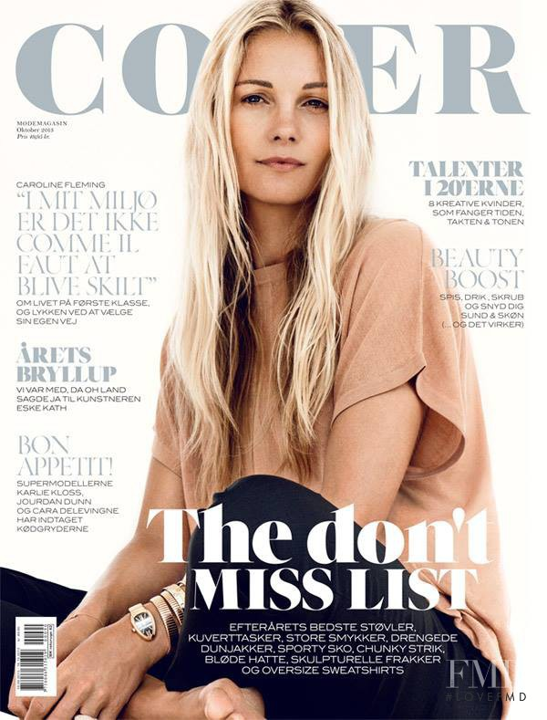 Caroline Fleming featured on the Cover cover from October 2013