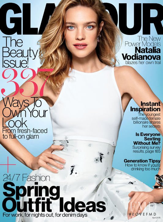 Natalia Vodianova featured on the Glamour USA cover from April 2015