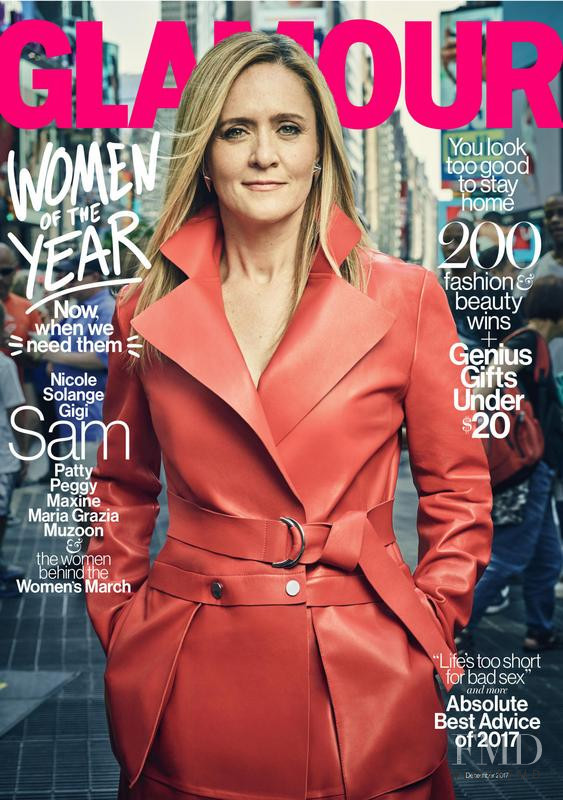 Samantha Bee featured on the Glamour USA cover from December 2017