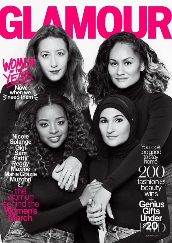 Bob Bland, Carmen Perez, Tamika D. Mallory, Linda Sarsour featured on the Glamour USA cover from December 2017
