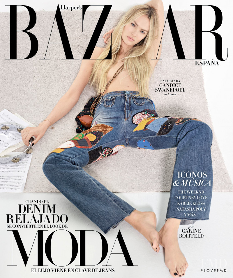 Candice Swanepoel featured on the Harper\'s Bazaar Spain cover from September 2017