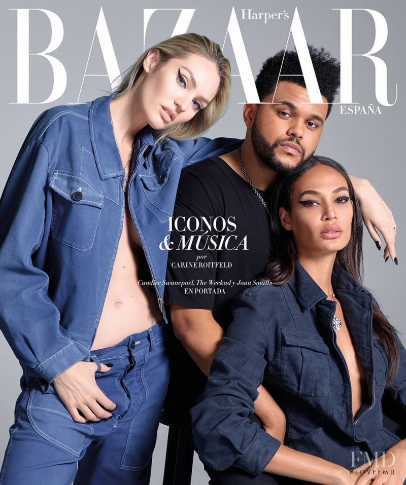 Candice Swanepoel, Joan Smalls featured on the Harper\'s Bazaar Spain cover from September 2017