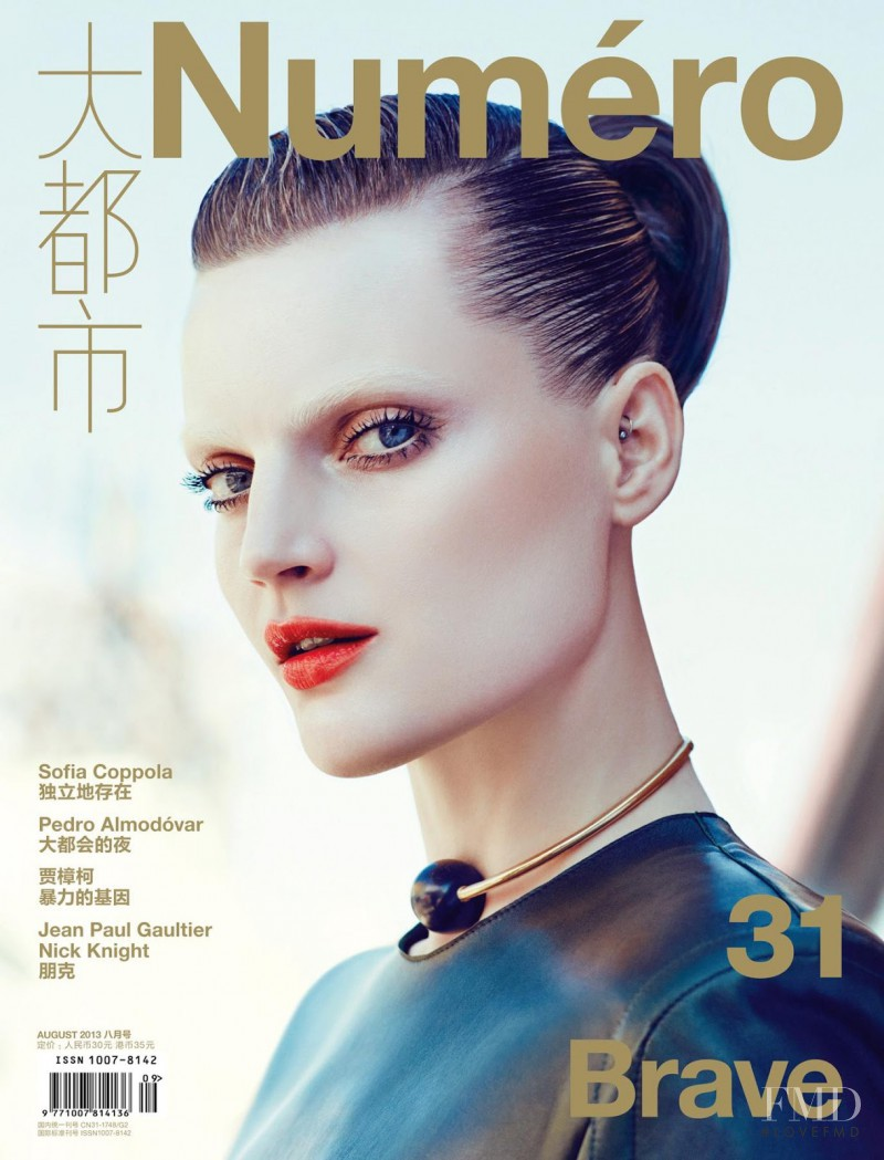 Guinevere van Seenus featured on the Num�ro China cover from August 2013