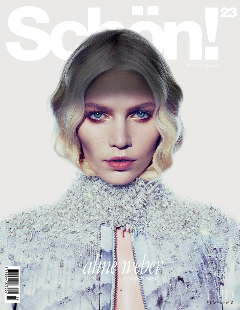 Aline Weber featured on the Sch�n! cover from December 2013