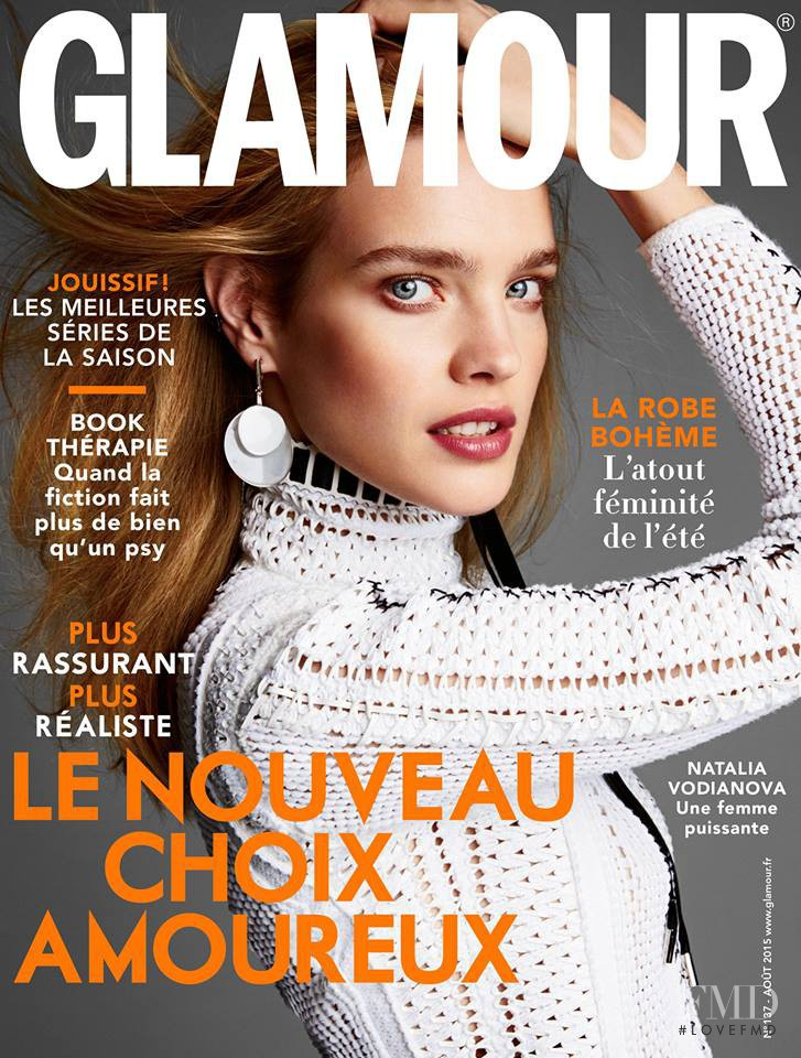 Natalia Vodianova featured on the Glamour Germany cover from August 2015
