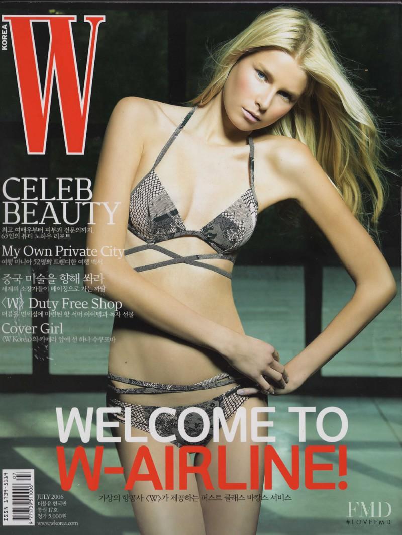 Hana Soukupova featured on the W Korea cover from July 2006