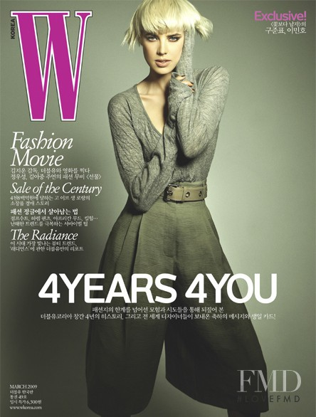 Agyness Deyn featured on the W Korea cover from March 2009