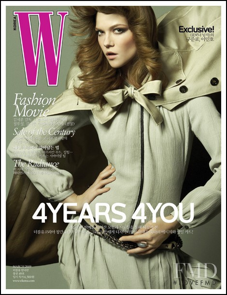 Kasia Struss featured on the W Korea cover from March 2009
