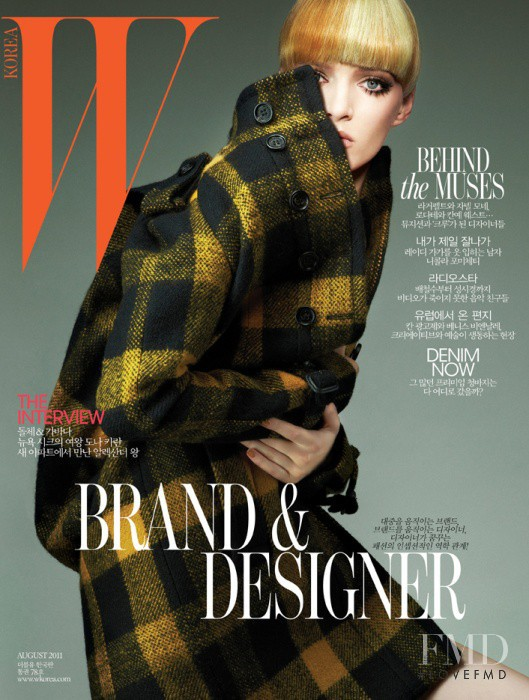 Daria Strokous featured on the W Korea cover from August 2011