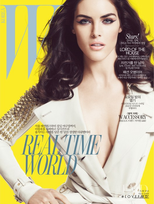 Hilary Rhoda featured on the W Korea cover from May 2011