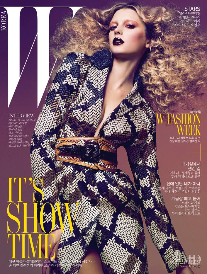 Sigrid Agren featured on the W Korea cover from April 2012