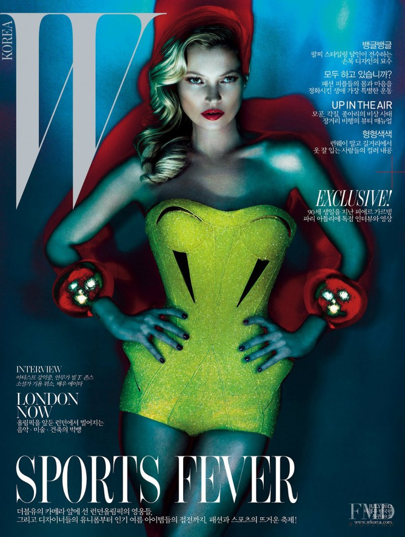 Kate Moss featured on the W Korea cover from July 2012