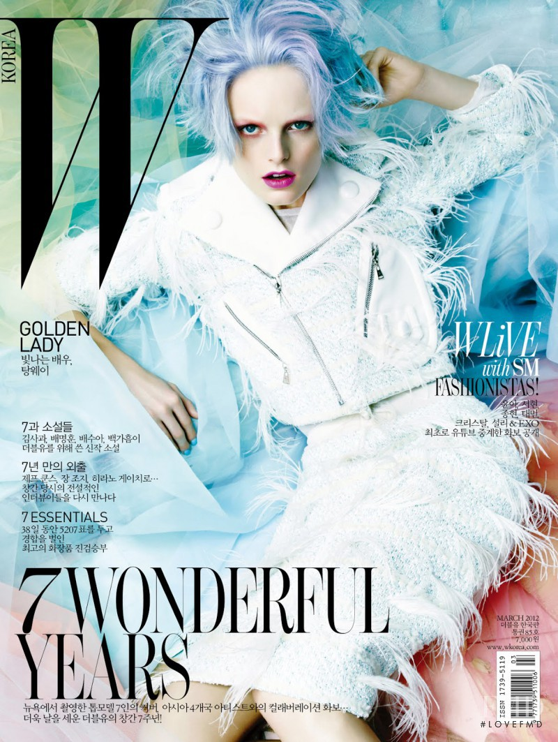 Hanne Gaby Odiele featured on the W Korea cover from March 2012