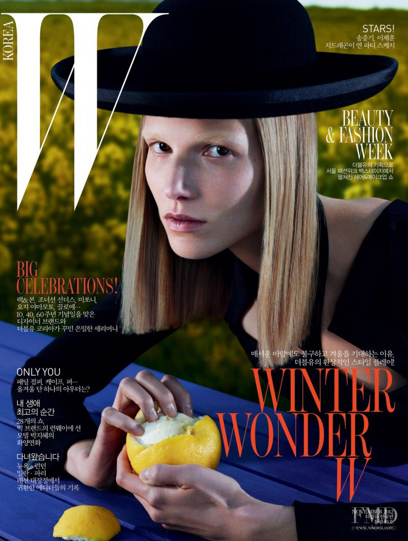 Suvi Koponen featured on the W Korea cover from November 2012