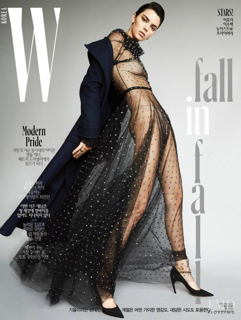 Kendall Jenner featured on the W Korea cover from September 2017