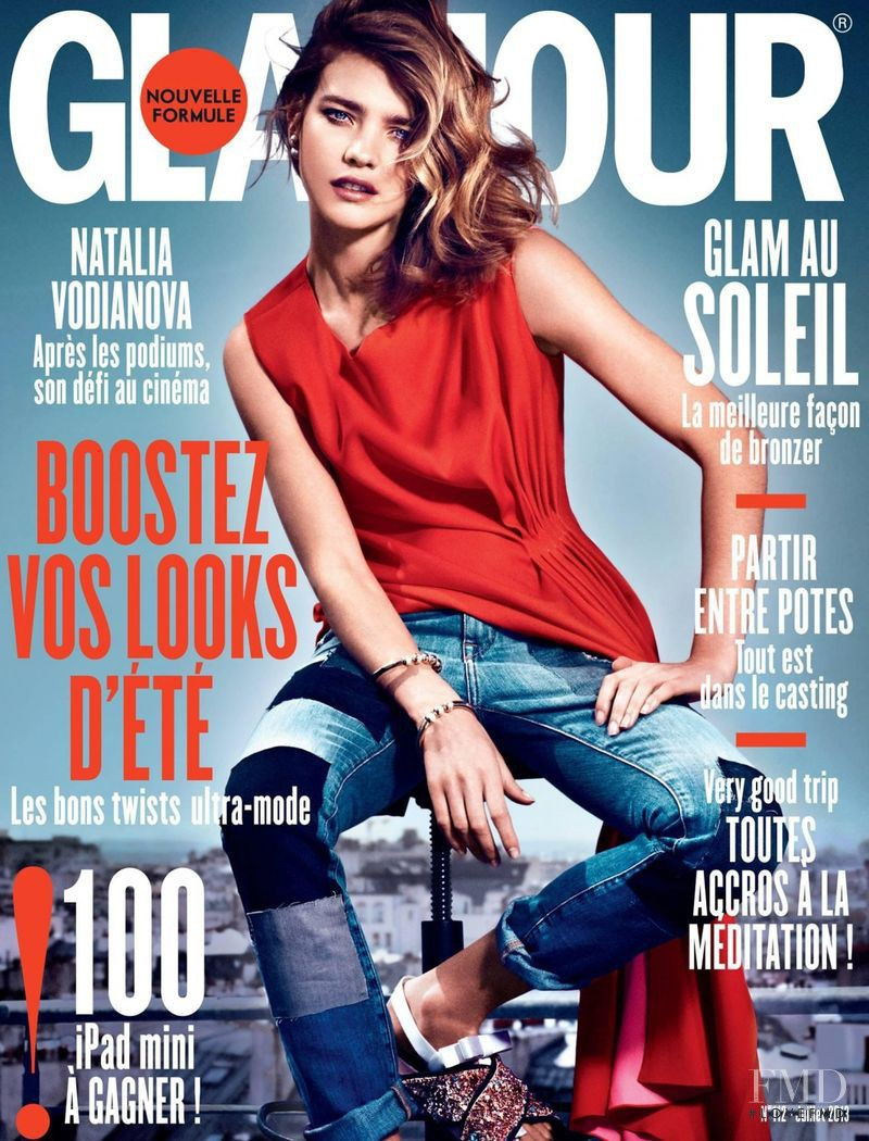 Natalia Vodianova featured on the Glamour France cover from July 2013