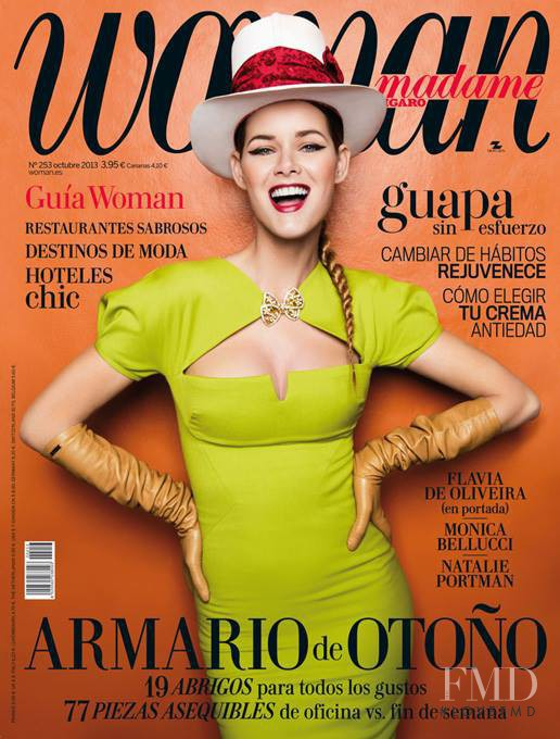 Flavia de Oliveira featured on the woman Madame Figaro Spain cover from October 2013