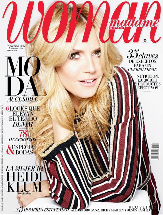 Heidi Klum featured on the woman Madame Figaro Spain cover from May 2015