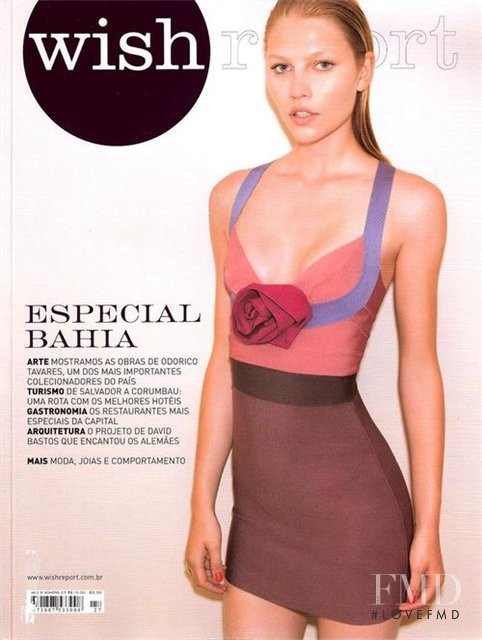 Aline Weber featured on the wish report cover from March 2009