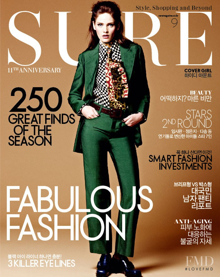 Heidi Mount featured on the Sure cover from September 2012