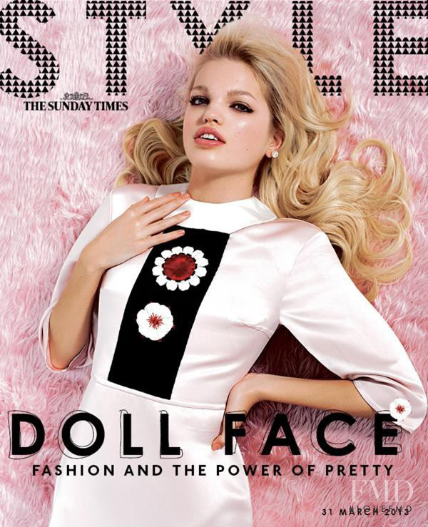Daphne Groeneveld featured on the The Sunday Times Style cover from March 2013
