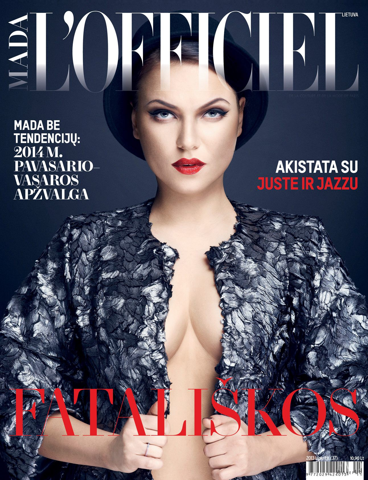 cover of l 39 officiel lithuania with juste arlauskaite november 2013 id 24806 magazines the fmd. Black Bedroom Furniture Sets. Home Design Ideas