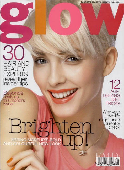 Justine Paquette featured on the Glow cover from May 2010