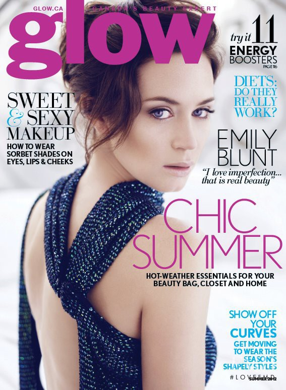 Emily Blunt featured on the Glow cover from June 2012