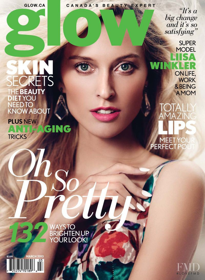 Liisa Winkler featured on the Glow cover from March 2013