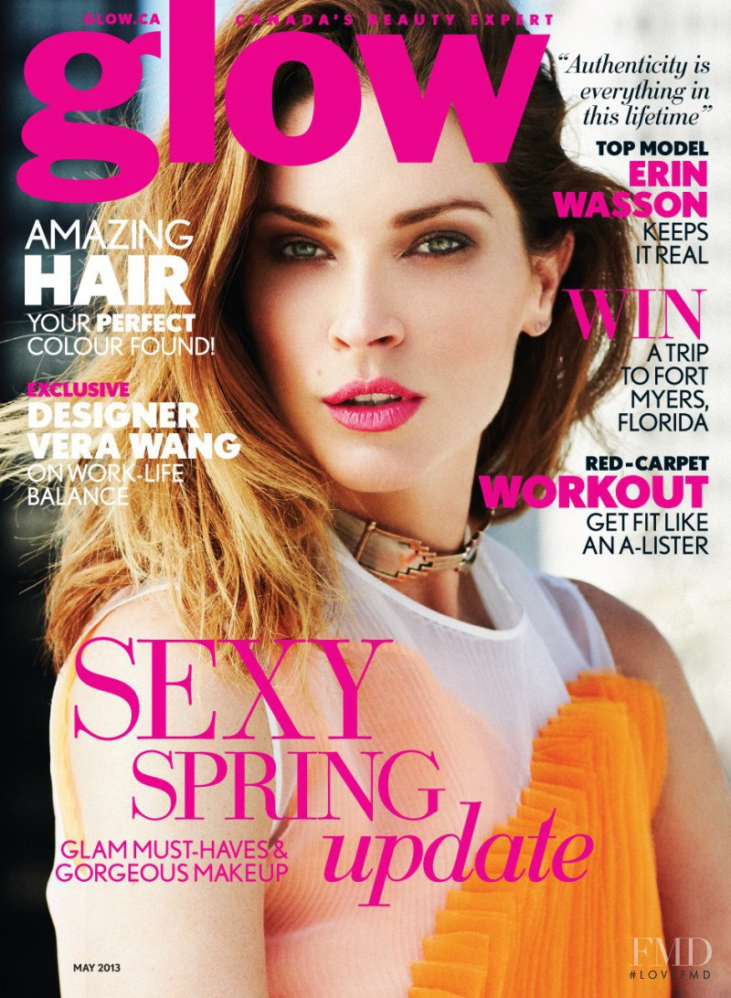 Erin Wasson featured on the Glow cover from May 2013