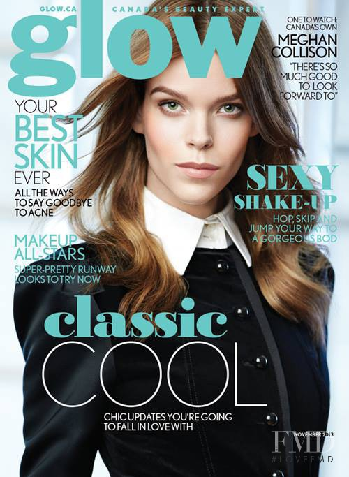 Meghan Collison featured on the Glow cover from November 2013