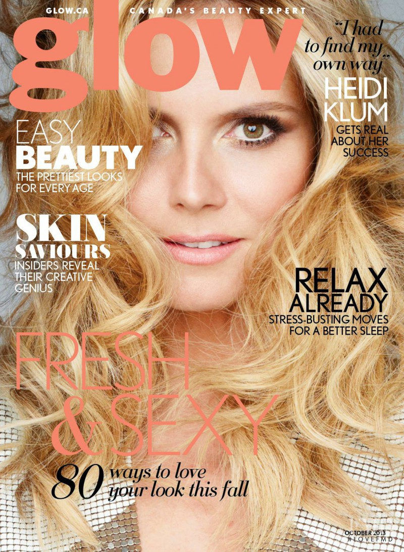 Heidi Klum featured on the Glow cover from October 2013