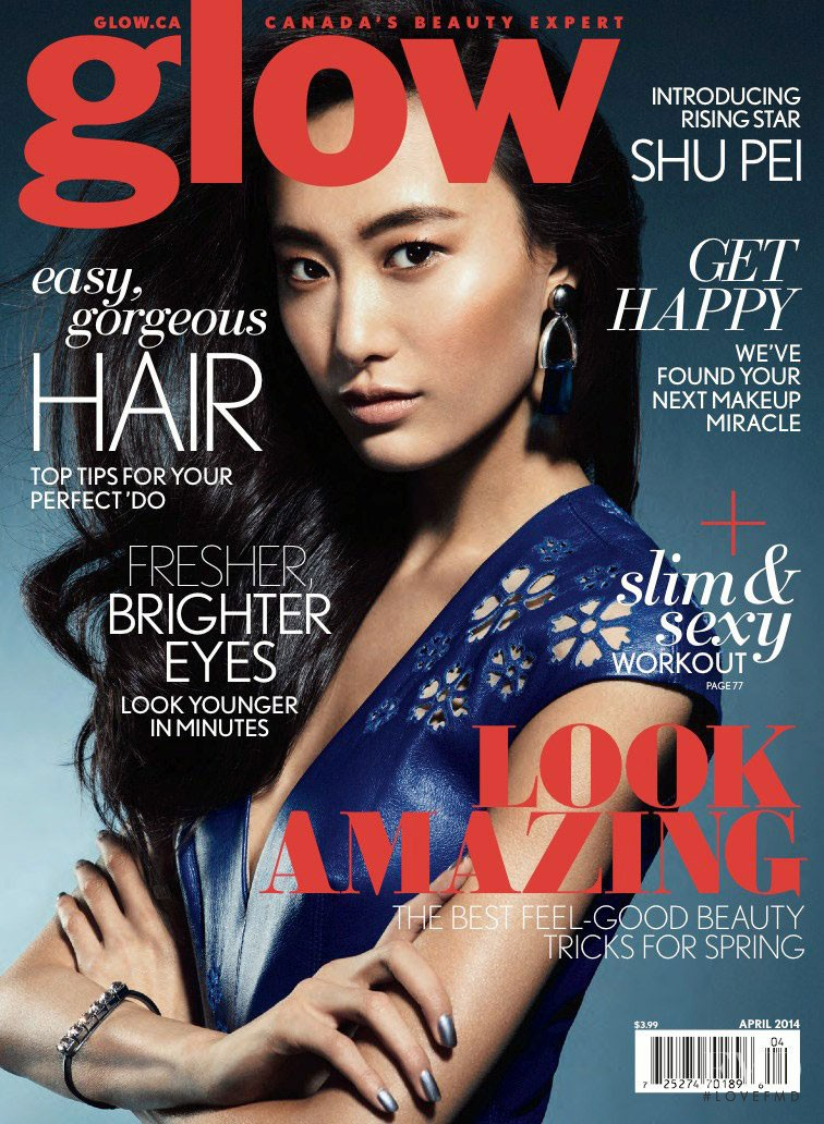Shu Pei featured on the Glow cover from April 2014