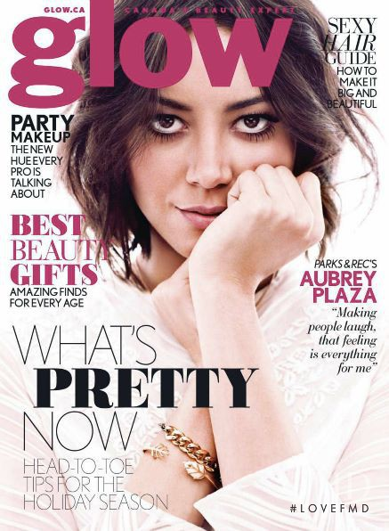 Aubrey Plaza featured on the Glow cover from January 2014