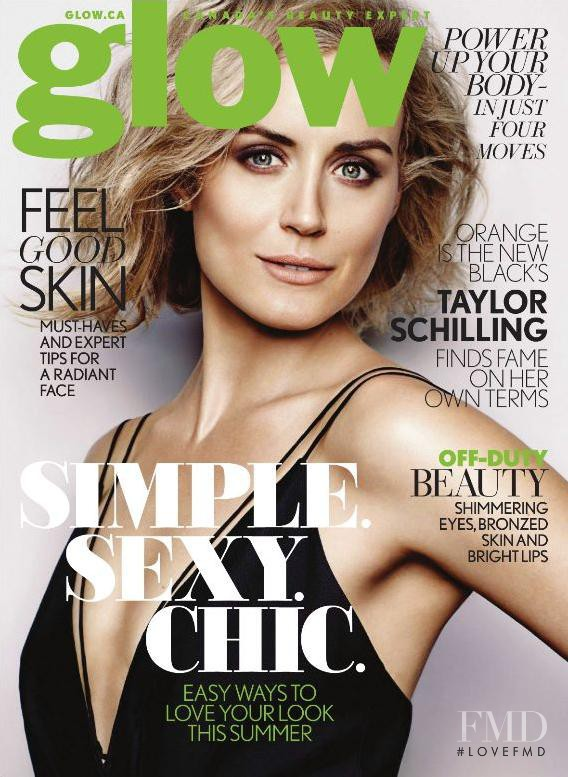 Taylor Schilling featured on the Glow cover from June 2014