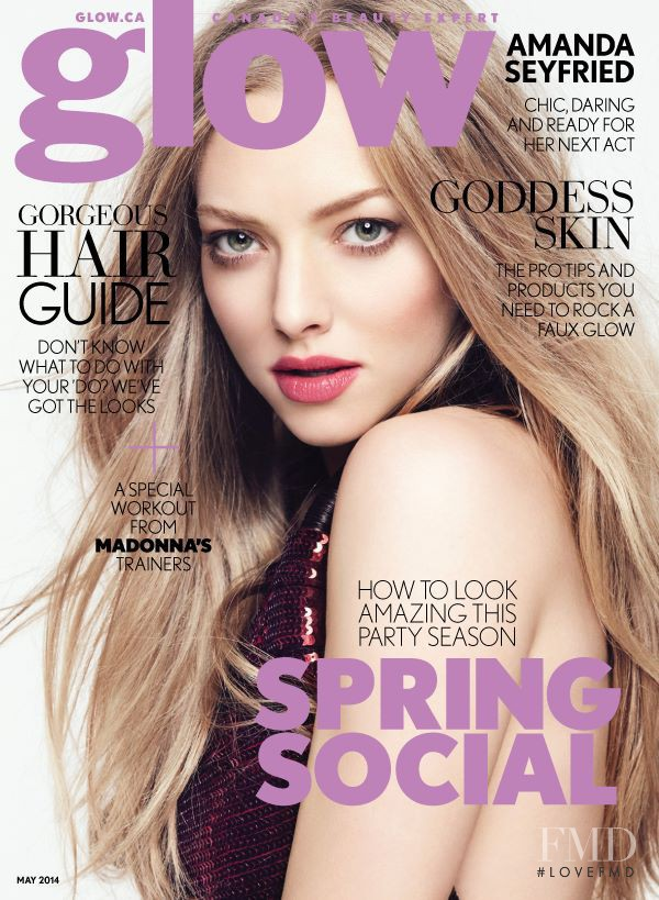 Amanda Seyfried featured on the Glow cover from May 2014