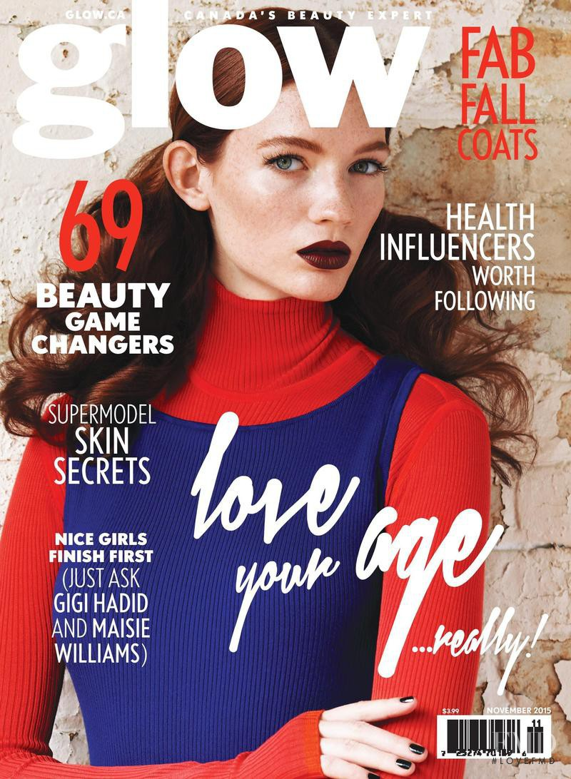 Kristin Zakala featured on the Glow cover from November 2015