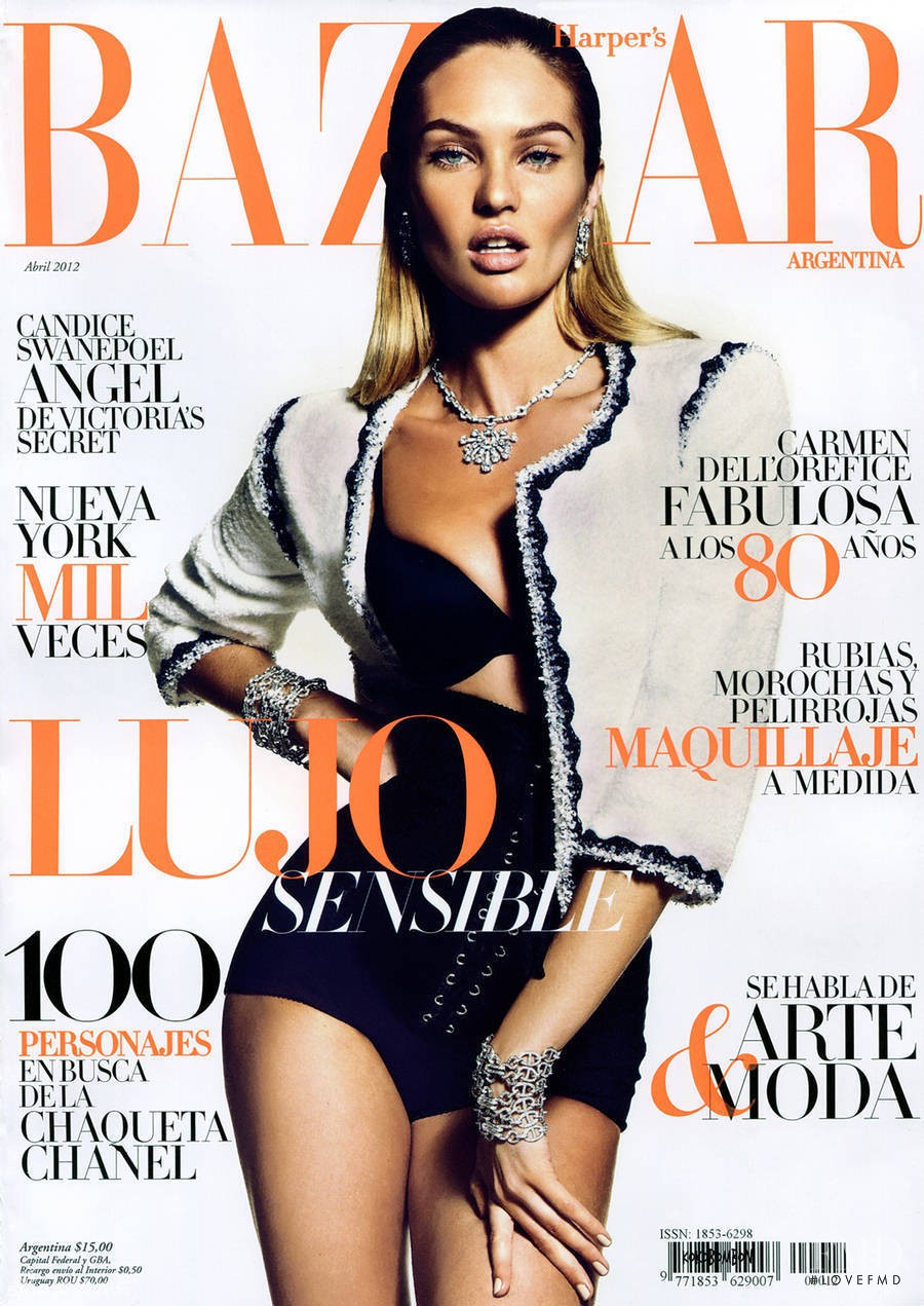 Cover of harper 39 s bazaar argentina with candice swanepoel for Bazaar argentina