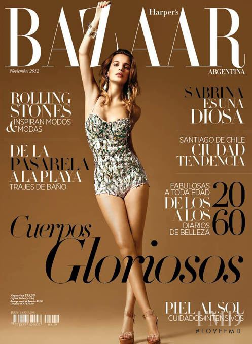 Cover of harper 39 s bazaar argentina with sabrina garciarena for Bazaar argentina