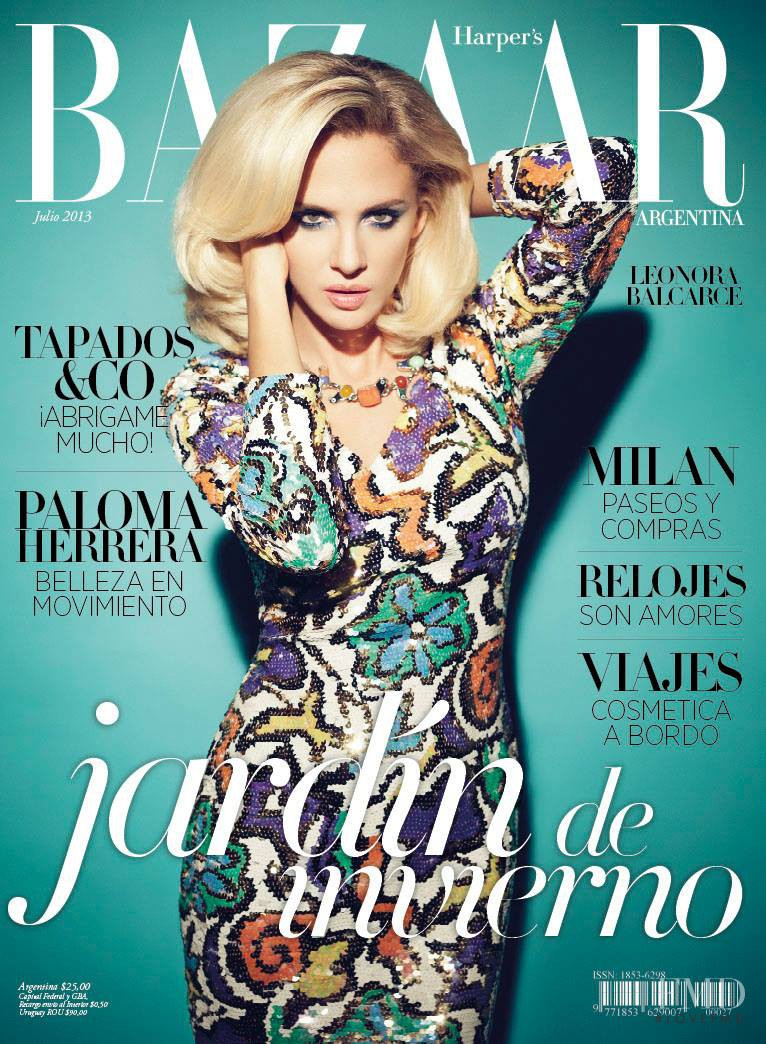 Cover of harper 39 s bazaar argentina with leonora balcarce for Bazaar argentina