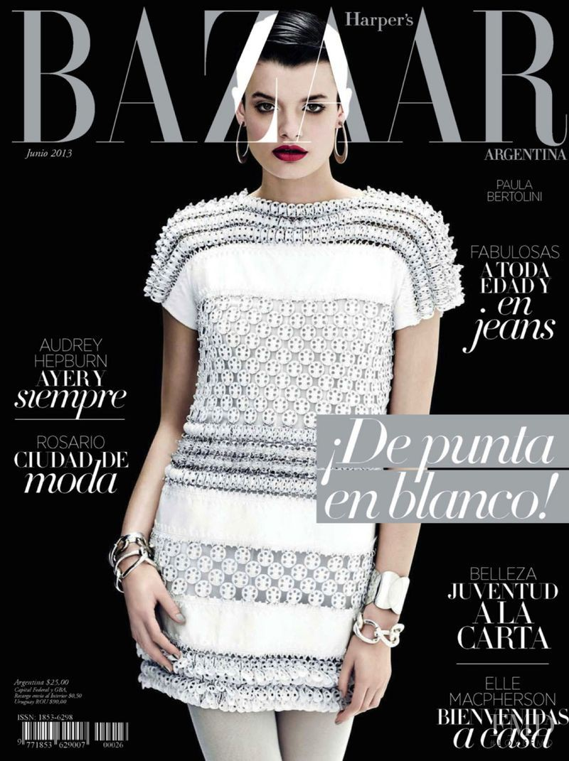 Cover of harper 39 s bazaar argentina with paula bertolini for Bazaar argentina