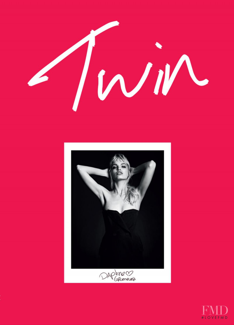 Daphne Groeneveld featured on the Twin Magazine cover from September 2013