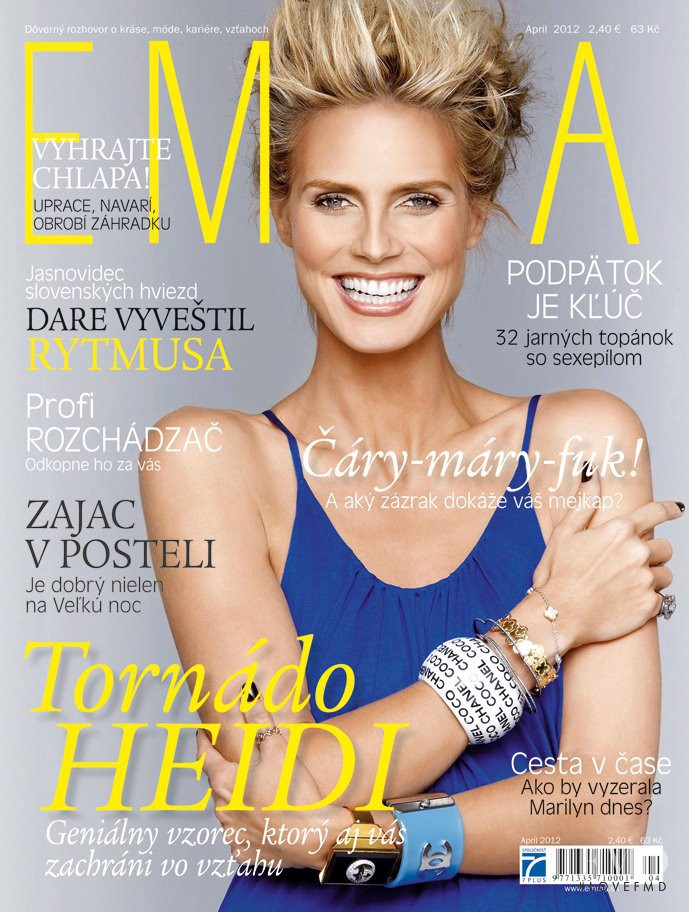 Heidi Klum featured on the EMMA Slovakia cover from April 2012
