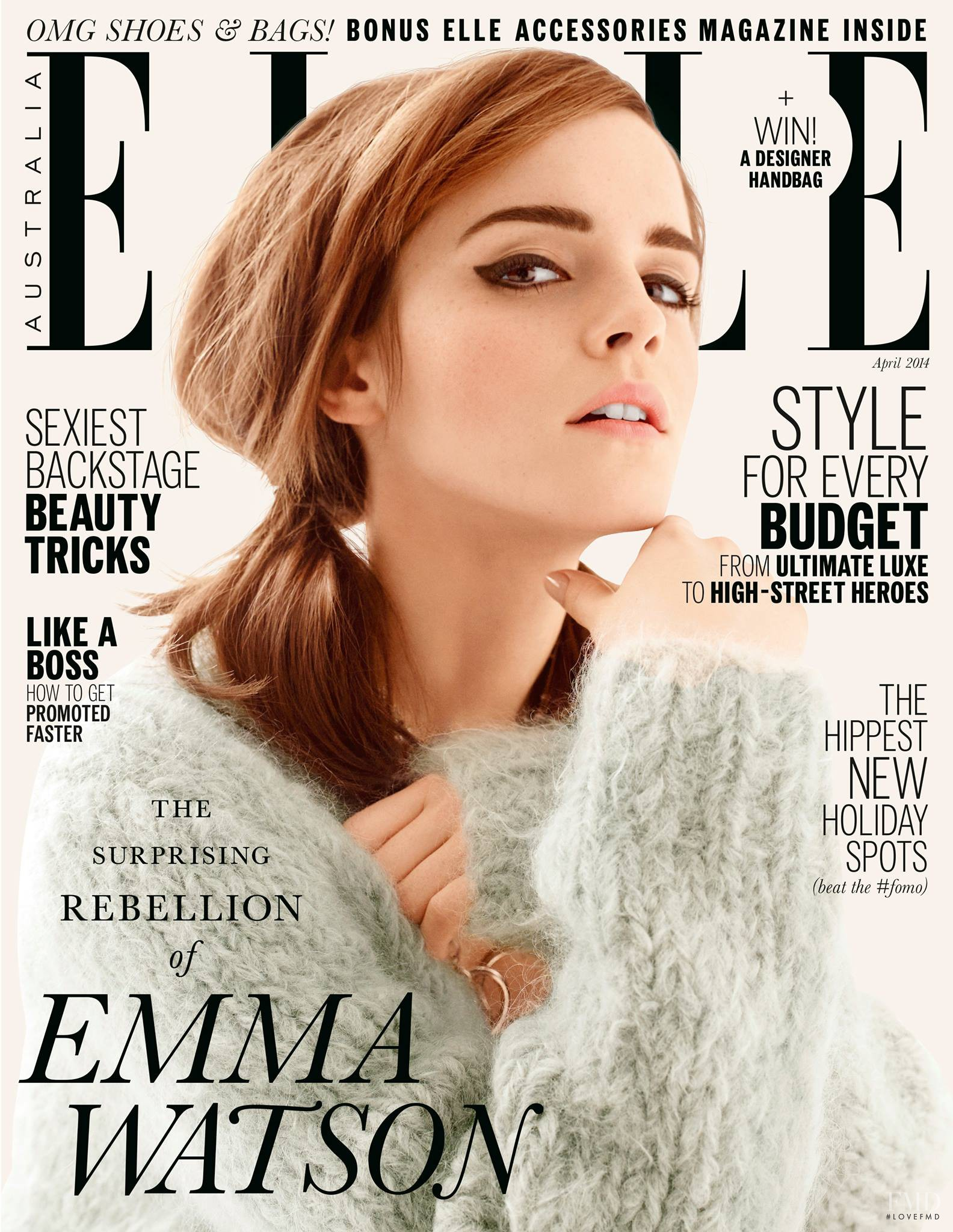 Cover Of Elle Australia With Emma Watson April 2014 Id 27792 Magazines The Fmd
