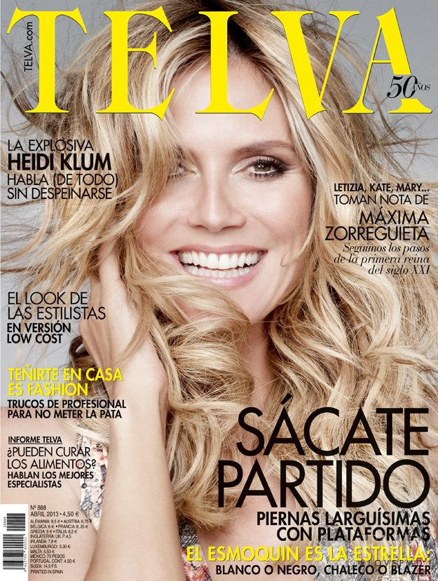 Heidi Klum featured on the Telva cover from April 2013