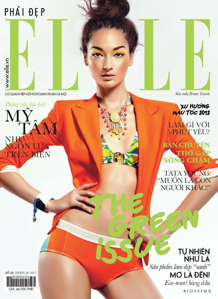 Bruna Ten�rio featured on the Elle Vietnam cover from June 2012