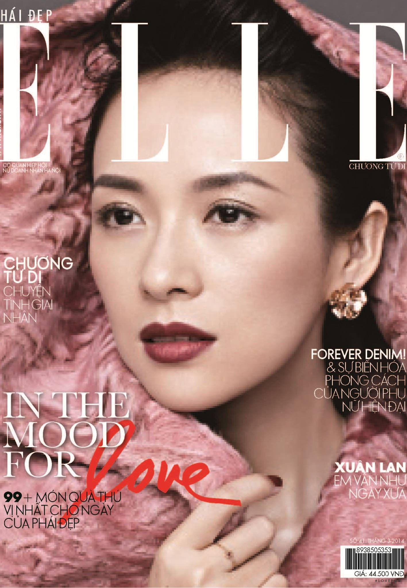 Cover of Elle Vietnam with Zhang Ziyi, March 2014 (ID ...