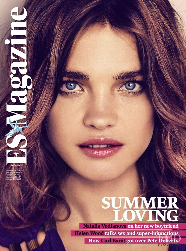 Natalia Vodianova featured on the ES Magazine cover from June 2011